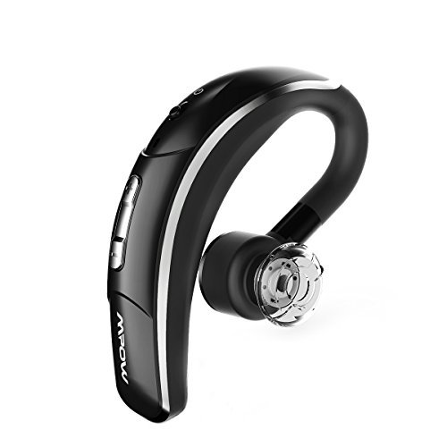 Mpow Bluetooth Headset Business Style Wireless Headset Bluetooth Earpiece Hands Free Calling With Clear Voice Capture Technology Bluetooth Earbuds For Iphone Samsung Huawei Htc Etc Bluetooth 4 1 280 Hours Standby Time Black